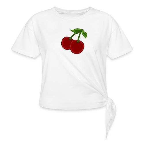 cherry - Koszulka damska z wiązaniem