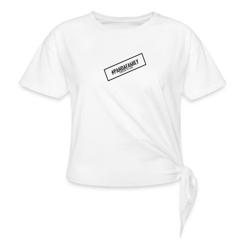 #PandaFamily [Balken] - Frauen Knotenshirt