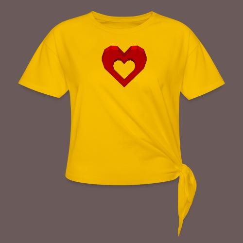 Heart Illusion - Dame knot-shirt