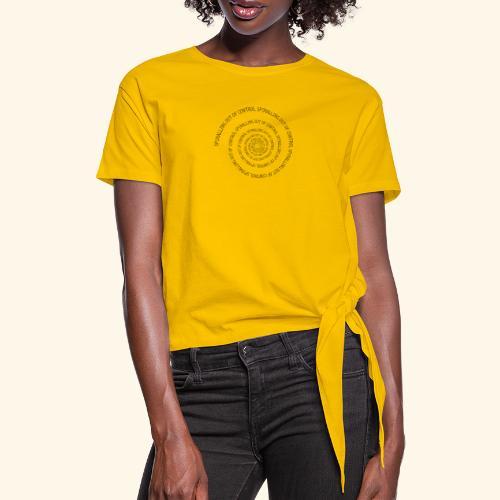 SPIRAL TEXT LOGO BLACK IMPRINT - Knotted T-Shirt