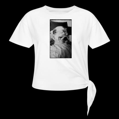 bulldog - T-shirt à nœud