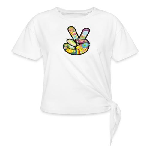 peace - Vrouwen Geknoopt shirt