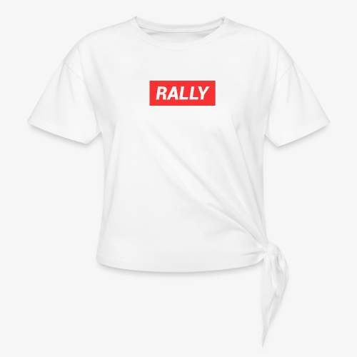 Rally classic red - T-shirt med knut