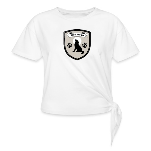 Wolf Moon Crest - Women's Knotted T-Shirt