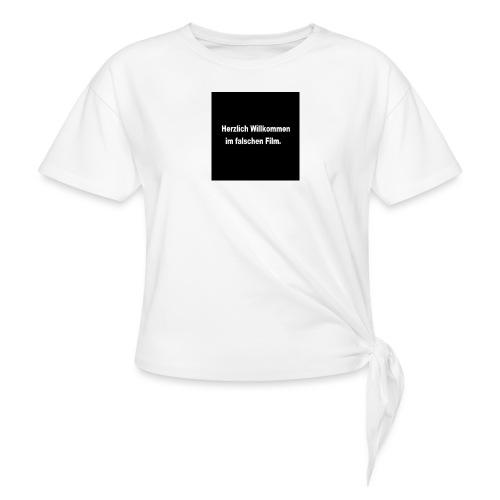 Willkommen im Falschen Film - Frauen Knotenshirt