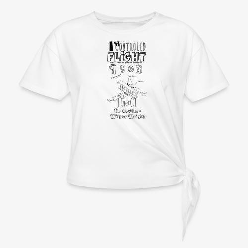 1stcontroled flight - T-shirt à nœud