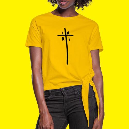Cross - INRI (Jesus of Nazareth King of Jews) - Women's Knotted T-Shirt