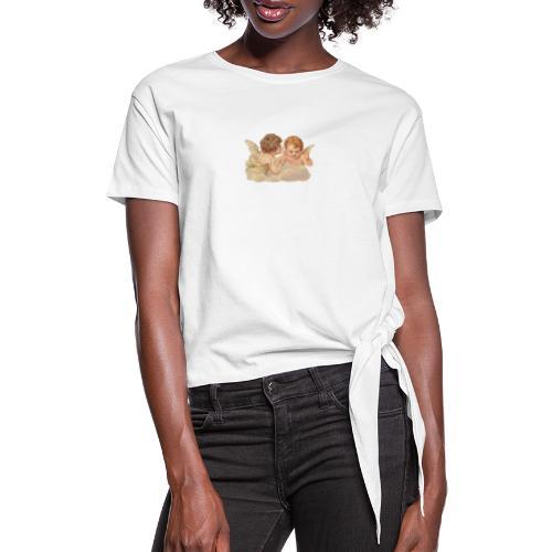 tee shirt angels - T-shirt à nœud Femme