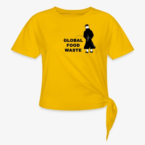Pissing Man against Global Food Waste - Frauen Knotenshirt
