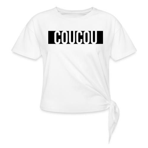 Coucou [1] Black - T-shirt à nœud Femme