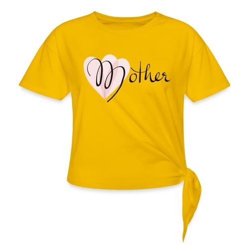 Mother Rose Herz Mutter - Frauen Knotenshirt