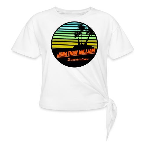 Jonathan William Summertime - Women's Knotted T-Shirt