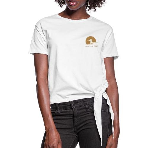 Moonsurfing - Women's Knotted T-Shirt
