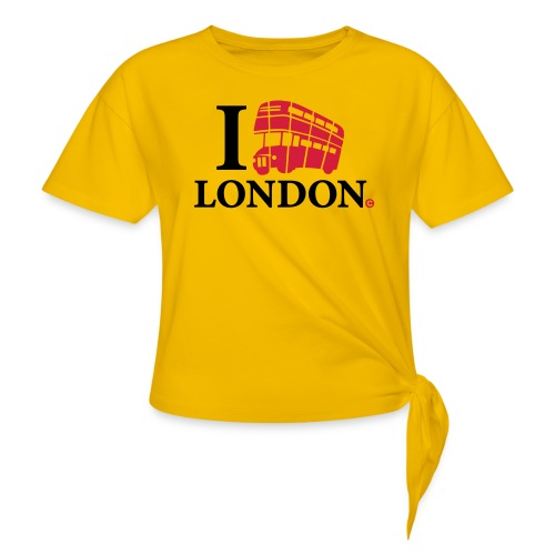 I love (Double-decker bus) London - Women's Knotted T-Shirt