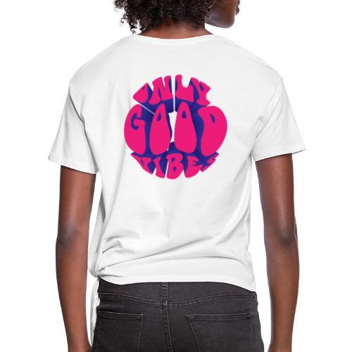 ONLY GOOD VIBES - Maglietta annodata da donna