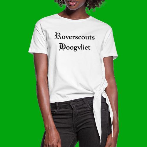 Rover logo en Tekst, Je kan zelf naam toevoegen - Vrouwen Geknoopt shirt