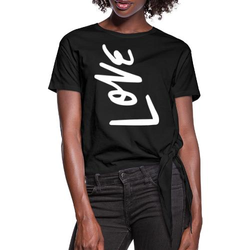 Love - Frauen Knotenshirt