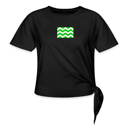 Vlag westland kassen - Vrouwen Geknoopt shirt