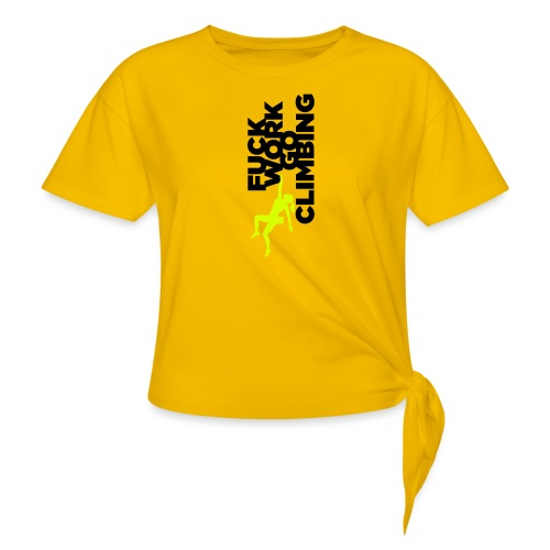 Go Climbing girl! - Women's Knotted T-Shirt