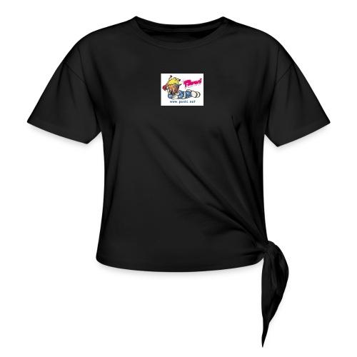 panki sticker neu - Frauen Knotenshirt
