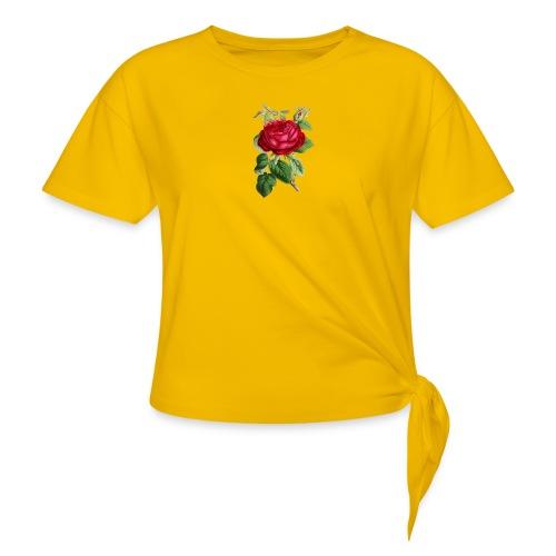Fin ros - T-shirt med knut dam