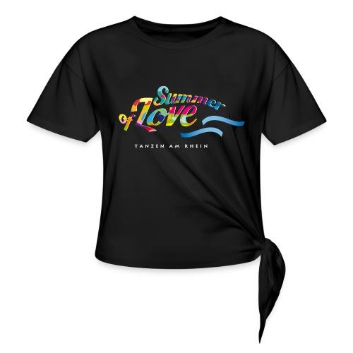 Tanzen_Shirtmotiv_bunt_2 - Frauen Knotenshirt