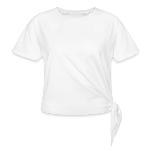 wit logo transparante achtergrond - Vrouwen Geknoopt shirt
