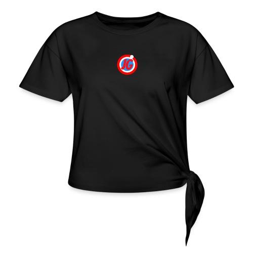 TEAM JG Logo top - Women's Knotted T-Shirt