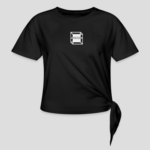 Squared Apparel White Logo - Women's Knotted T-Shirt