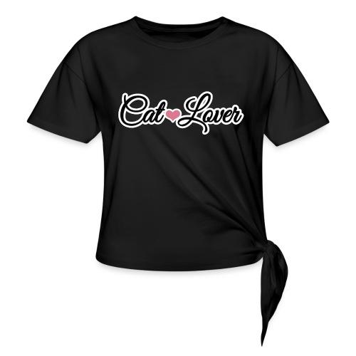CAT LOVER | Vêtement Pour Femme Et Enfant - T-shirt à nœud Femme