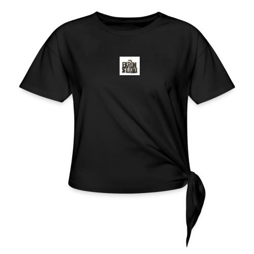 logo - T-shirt med knut