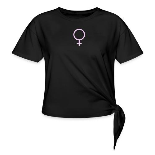 Feminina! - T-shirt med knut dam