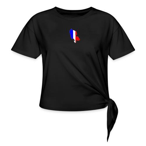 Carte Territoire de Belfort bleu blanc rouge - T-shirt à nœud