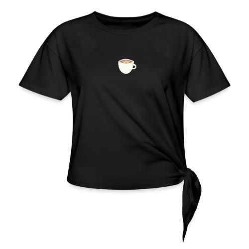 'Cappuccino' - Vrouwen Geknoopt shirt