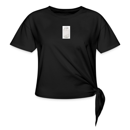 PLEASE FILL UP MY EMPTY JAR - Women's Knotted T-Shirt