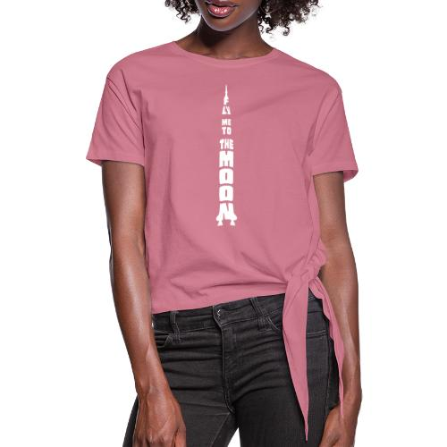 Fly me to the moon - Vrouwen Geknoopt shirt