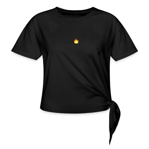 LIT - T-shirt med knut dam