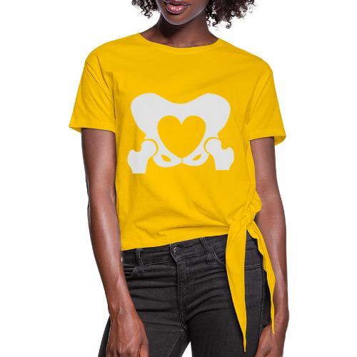 Love Your Hips Logo - Women's Knotted T-Shirt
