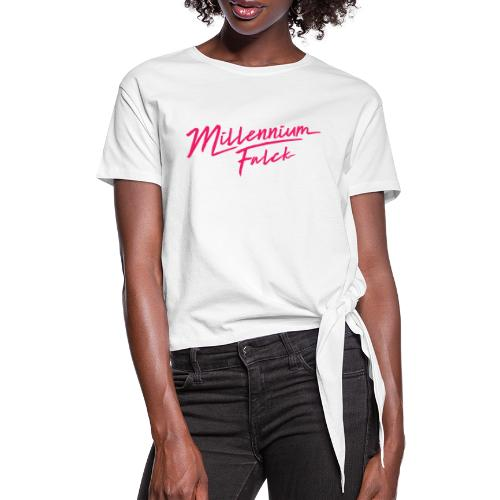 Millennium Falck - 2080's collection - Women's Knotted T-Shirt