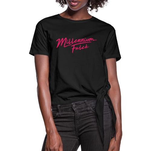 Millennium Falck - 2080's collection - Women's Knotted T-Shirt