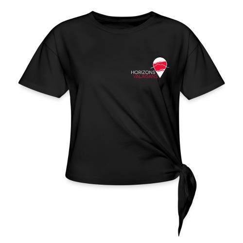 Horizons Valaisans (blanc) - T-shirt à nœud Femme