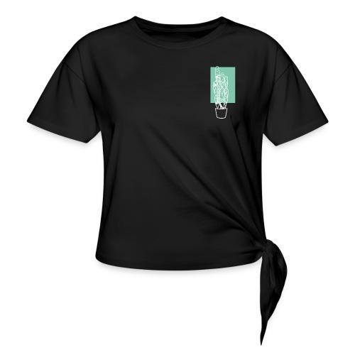 Kleiner Designer Kaktus - Frauen Knotenshirt