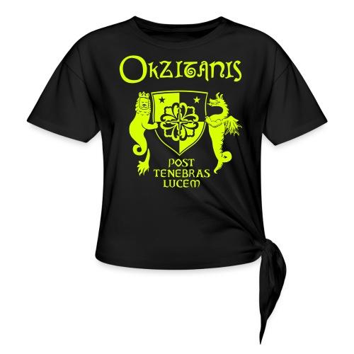 OKZITANIS WAPPENSPRUCH - Frauen Knotenshirt