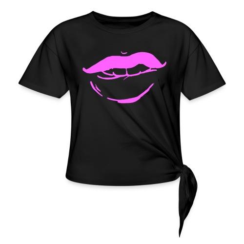 Bouche rose - T-shirt à nœud Femme