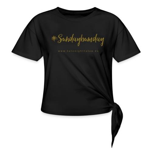 #Sundaybumday - GOLD - Frauen Knotenshirt