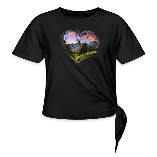 Nature Heart - Frauen Knotenshirt