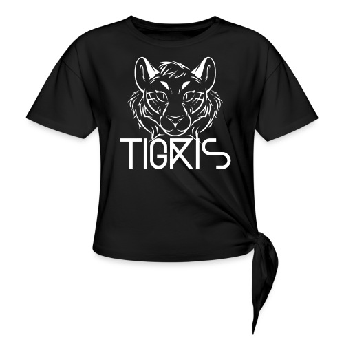 Tigris Logo Picture Text White - Knotted T-Shirt