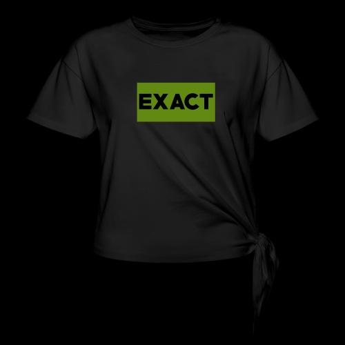 Exact Classic Green Logo - Women's Knotted T-Shirt
