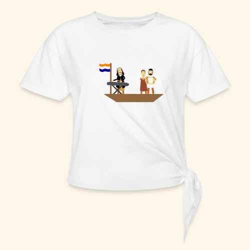 Iedereen is van de wereld... - Vrouwen Geknoopt shirt
