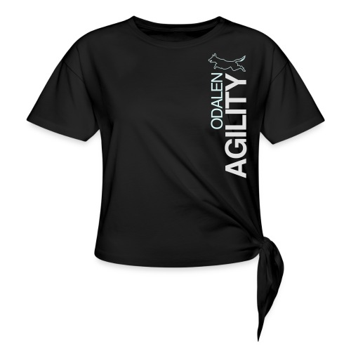 odalen agility blue1 - Women's Knotted T-Shirt
